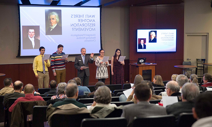 Students take part in the Landiss Lectures series.