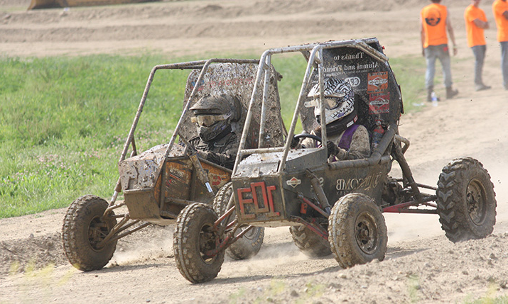 Racing at a Baja Sae Motorsports. competition in 2014